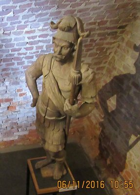 Statue in room off first courtyard