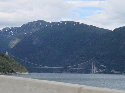 Bridge over fjord