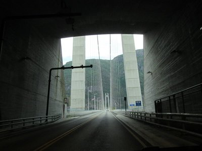 Out of tunnel and onto bridge