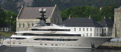 Someone's fancy yacht