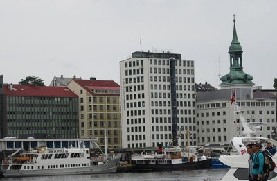 Our building from across the harbour