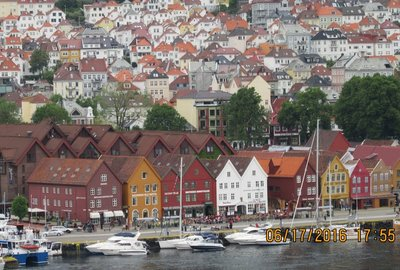 Bryggen from our rooftop