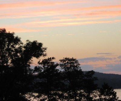 Sunset June 19th Dals Langed, Sweden