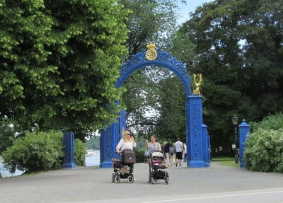 Beautiful Blue Gate to Djurgarden Park in Stockholm