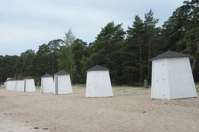 Beach houses at Hanko shore