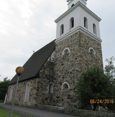 Side view of Holy Cross Church