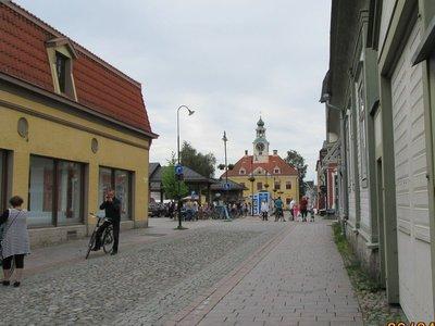 Old Rauma Town Street with market