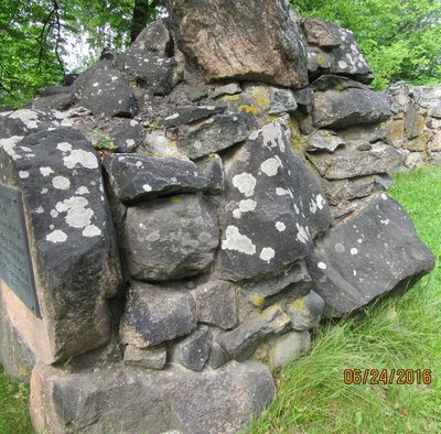Rock walls about 6 feet thick