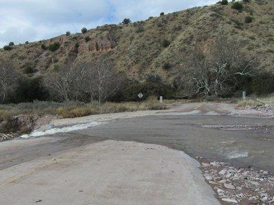 The flood zone we did cross