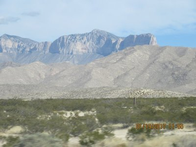 First view of Guadalupe Mountains