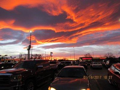Sunset at Carlsbad, NM