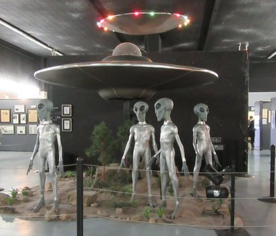 Scene in New Mexico UFO Museum, Roswell, NM