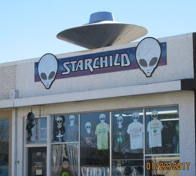 Store with UFO style