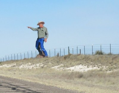 Hitchhiker on US 285 Northbound