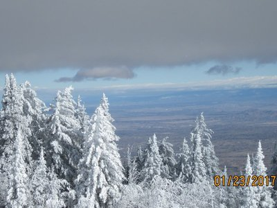 Looking east from Sandia Crest
