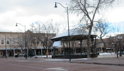 Plaza in downtown Sante Fe