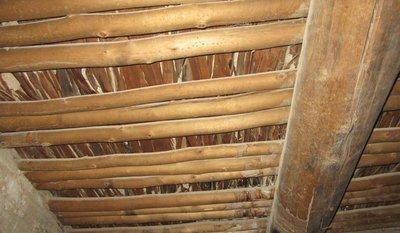 Original roof of home in Aztec Ruins