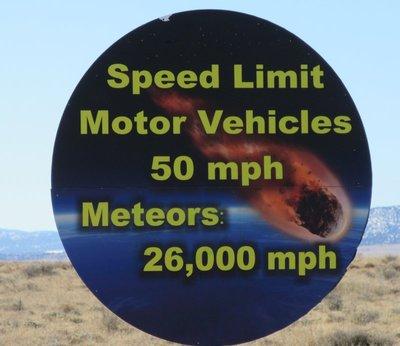 Meteor speed sign