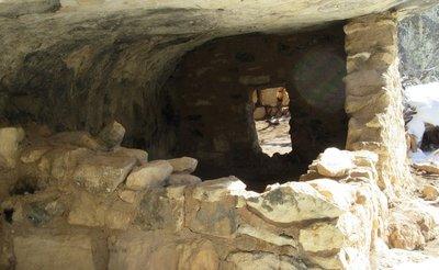 Another view of room under rock overhang