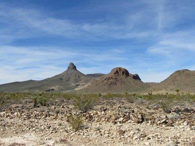 Rock formations along Route 66 between Kingman, AZ and Needles, CA