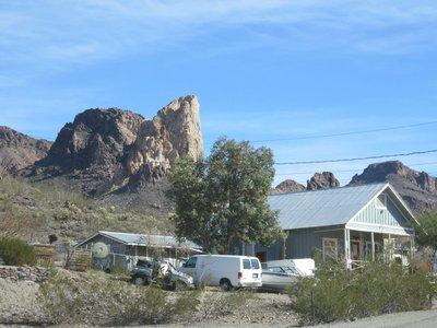 Entrance to Oatman, AZ along Route 66