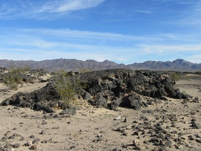 Lava field at Amboy Crater