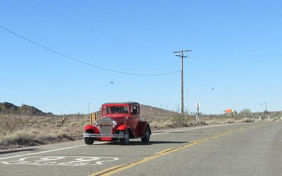 Someone's special car on Route 66