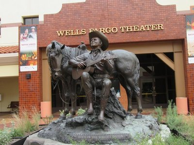 Gene Autry statue, the singing cowboy