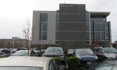 End view of outpatient building