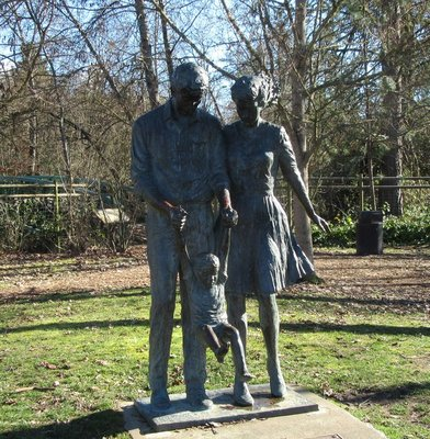 Family statue in All Sports Park