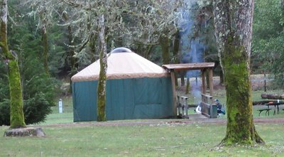 Yurt campers at Indian Mary Park