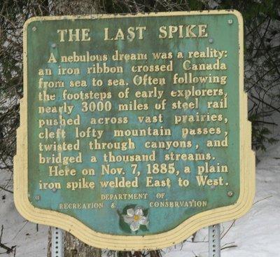 Last spike sign
