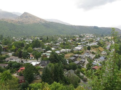 View of Arrowtown from height of land