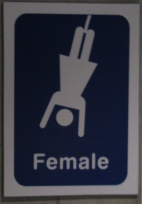 Women's toilet sign