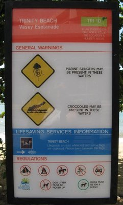 Warning sign Trinity Beach
