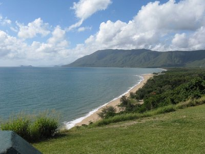 A view of the eastern coastline of Queensland