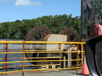 Cable drive on Daintree Ferry
