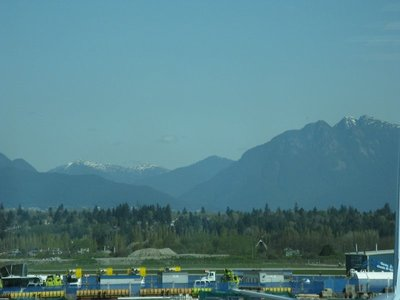 Rocky Mountains from Vancouver Airport