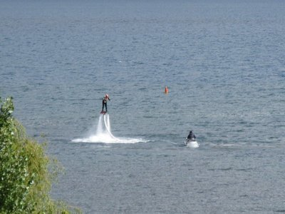Man enjoying a flyboard