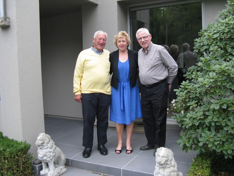 Art with Tom and Rosemary at their beautiful home