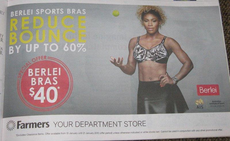 Serena Williams sells sports bras