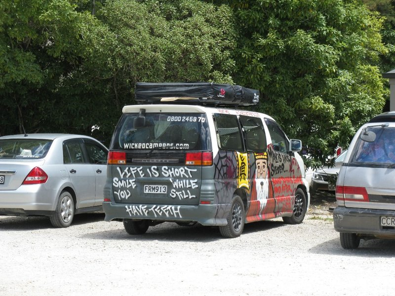Wicked van with commentary on aging