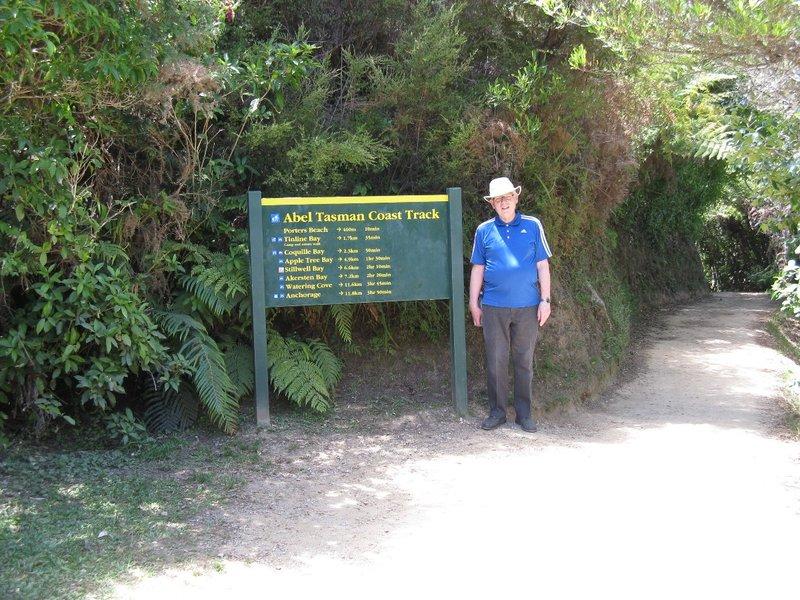 Art at Abel Tasman sign