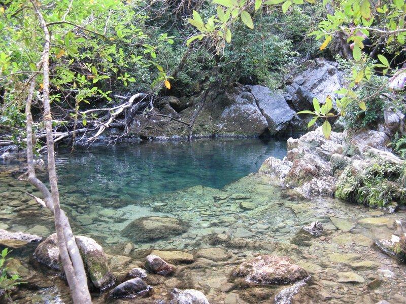 Crystal Pool on Riwaka River