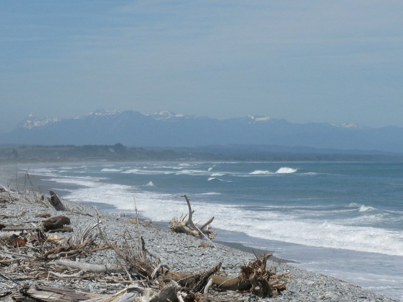 Shoreline at Greymouth