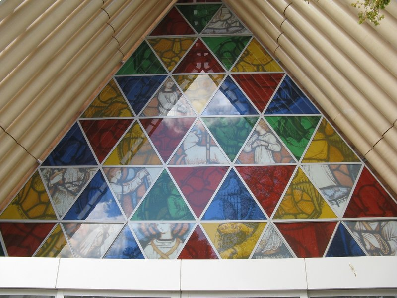 Stained glass window or plastic window