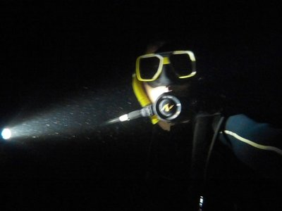 Night Dive Selfie