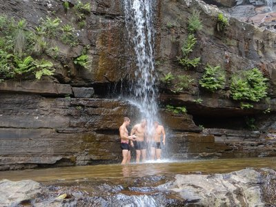 Taking a free shower at Wentworth Falls