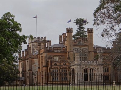 Government House in the Botanic Garden of Sydney