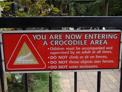 Entering the Crocodile Area
